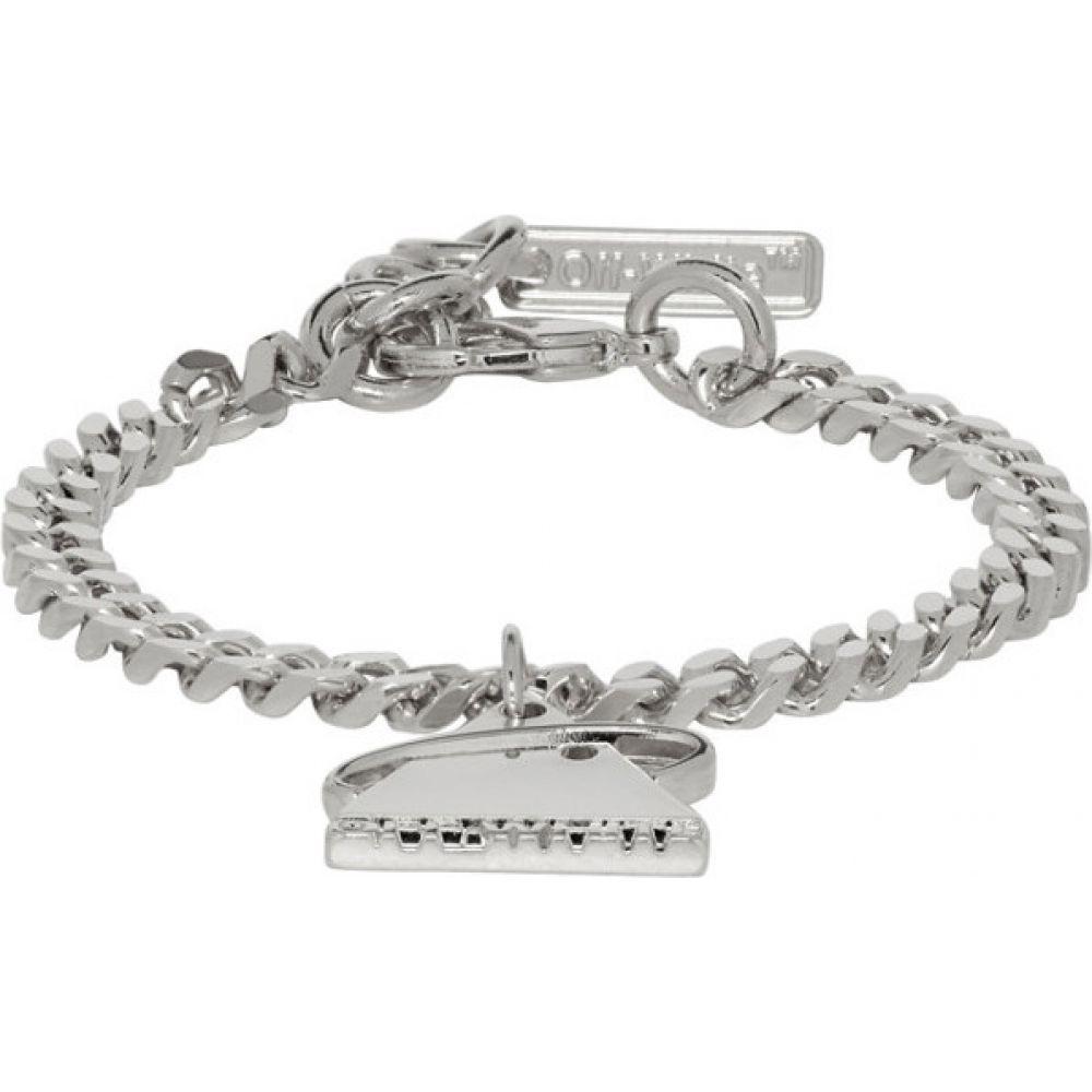 オフホワイト Off-White メンズ ブレスレット ジュエリー・アクセサリー【SSENSE Exclusive Silver Triangle Bracelet】
