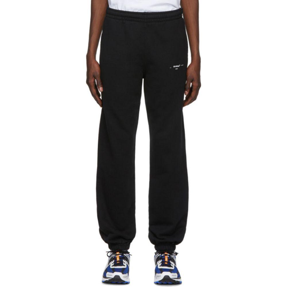 オフホワイト Off-White メンズ スウェット・ジャージ ボトムス・パンツ【Black & White Logo Slim Lounge Pants】Black/White