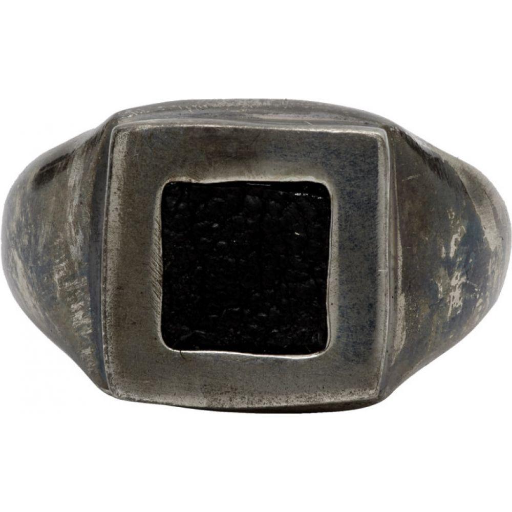 グイディ Guidi メンズ 指輪・リング ジュエリー・アクセサリー【Silver Square Ring】Silver