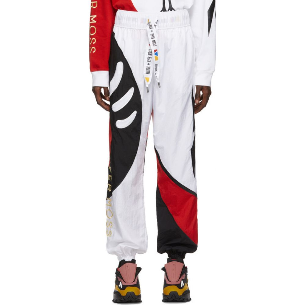 リーボック Reebok by Pyer Moss メンズ スウェット・ジャージ ボトムス・パンツ【White Collection 3 Sankofa Track Pants】White