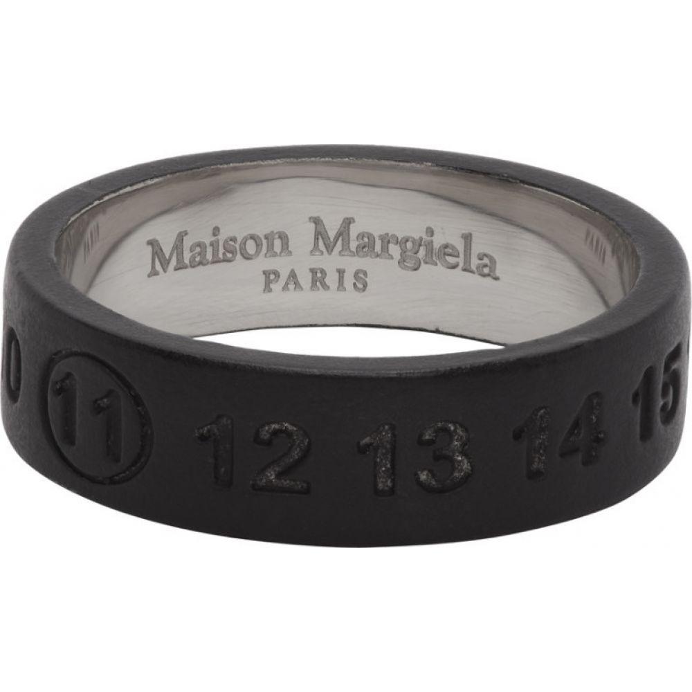 メゾン マルジェラ Maison Margiela メンズ 指輪・リング ジュエリー・アクセサリー【Black Logo Ring】Black/Silver