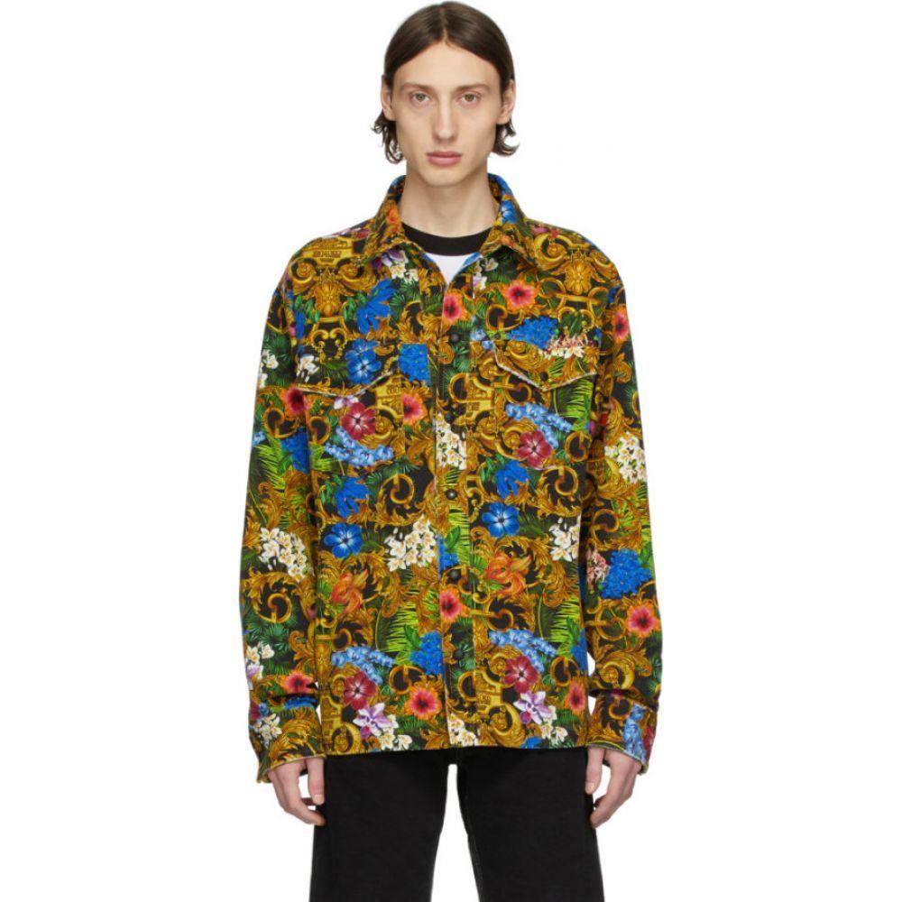 ヴェルサーチ Versace Jeans Couture メンズ ジャケット Gジャン アウター【Multicolor Barocco Jungle Denim Jacket】Multicolor