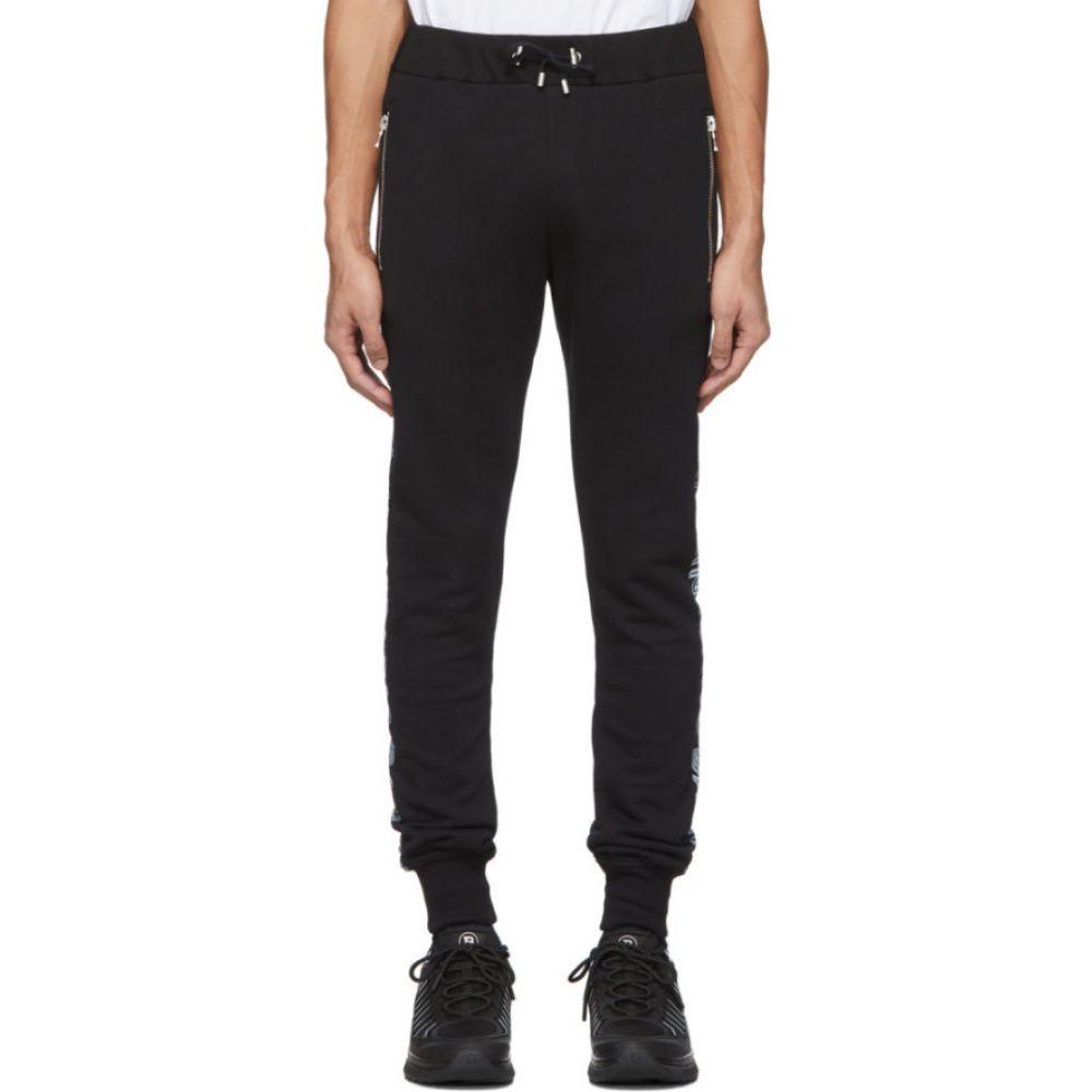 バルマン Balmain メンズ スウェット・ジャージ ボトムス・パンツ【Black Cotton Logo Lounge Pants】Black