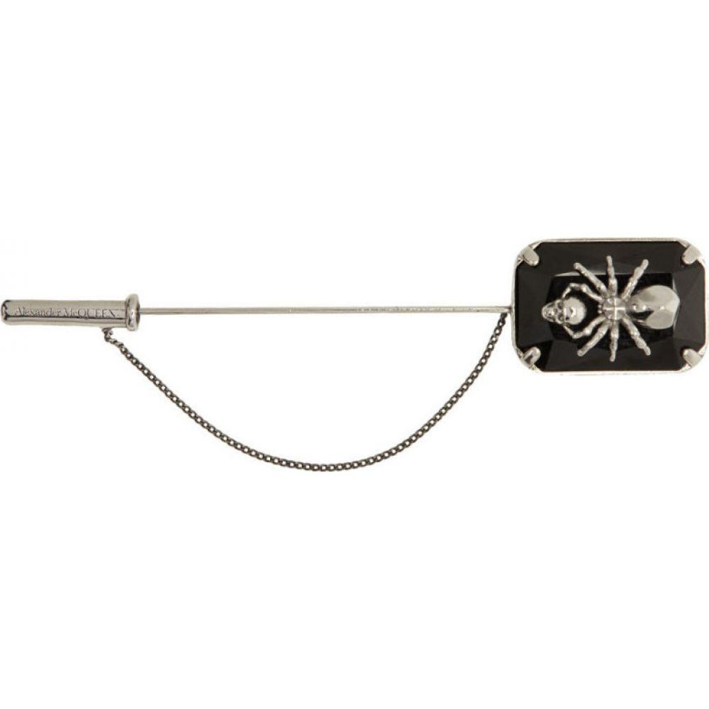 アレキサンダー マックイーン Alexander McQueen メンズ ラペルピン 【Black & Silver Spider Pin】Silver