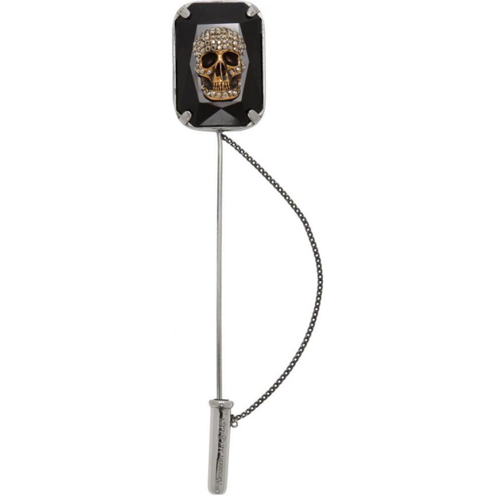 アレキサンダー マックイーン Alexander McQueen メンズ ラペルピン 【Silver Jeweled Skull Pin】Silver