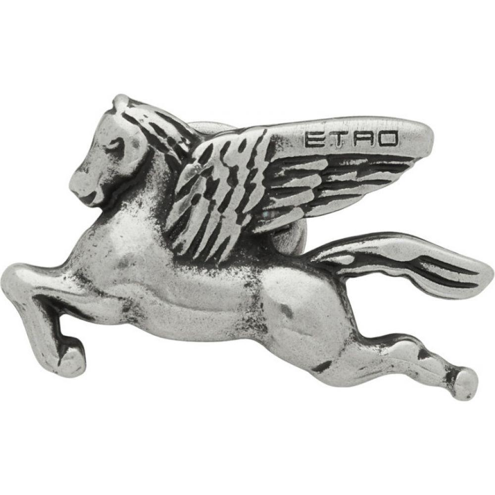 エトロ Etro メンズ ラペルピン 【Silver Pegasus Pin】Silver