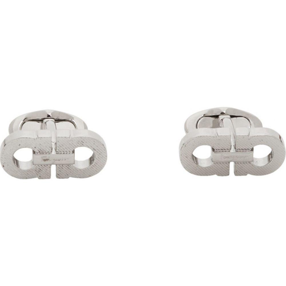 サルヴァトーレ フェラガモ Salvatore Ferragamo メンズ カフス・カフリンクス 【Silver Riga Cufflinks】Silver