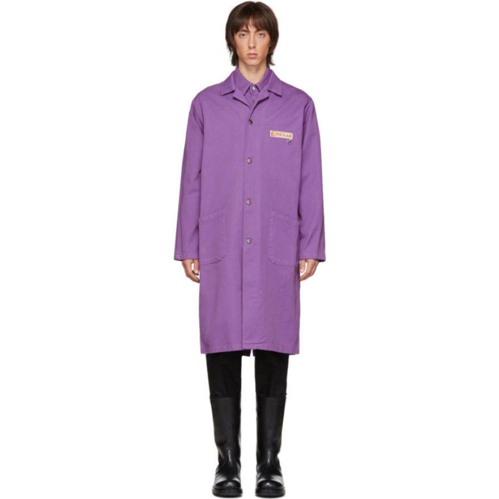 ラフ シモンズ Raf Simons メンズ コート アウター【Purple Denim Lab Coat】Purple