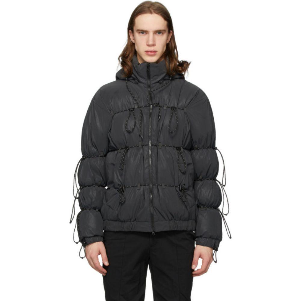 ポスト アーカイブ ファクション Post Archive Faction (PAF) メンズ ダウン・中綿ジャケット アウター【SSENSE Exclusive Black Down String Jacket】Black
