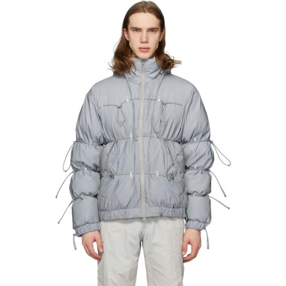 ポスト アーカイブ ファクション Post Archive Faction (PAF) メンズ ダウン・中綿ジャケット アウター【SSENSE Exclusive Silver Down Reflective String Jacket】Reflective