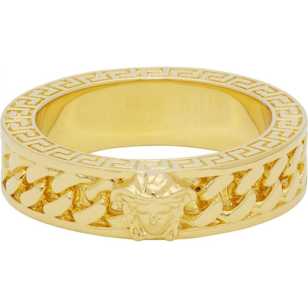 ヴェルサーチ Versace メンズ 指輪・リング ジュエリー・アクセサリー【Gold Chain Band Ring】Gold