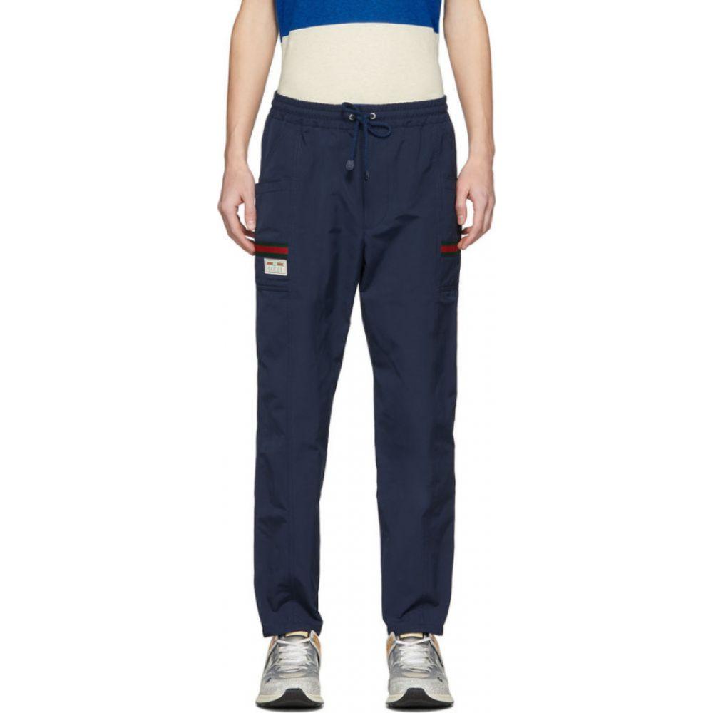 グッチ Gucci メンズ スウェット・ジャージ ボトムス・パンツ【Navy Waterproof Lounge Pants】Blue/Multi