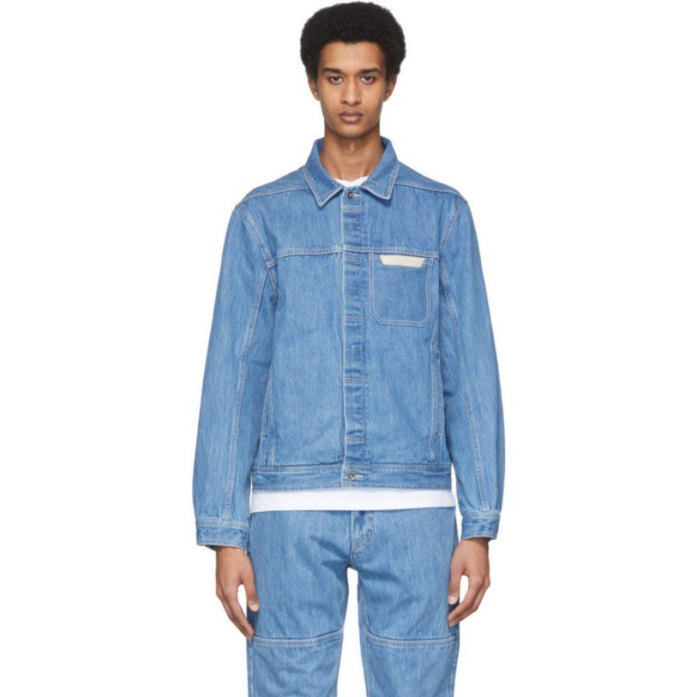 サタデーニューヨーク Saturdays NYC メンズ ジャケット Gジャン アウター【Blue Denim Kurlick Jacket】Stone washed indigo