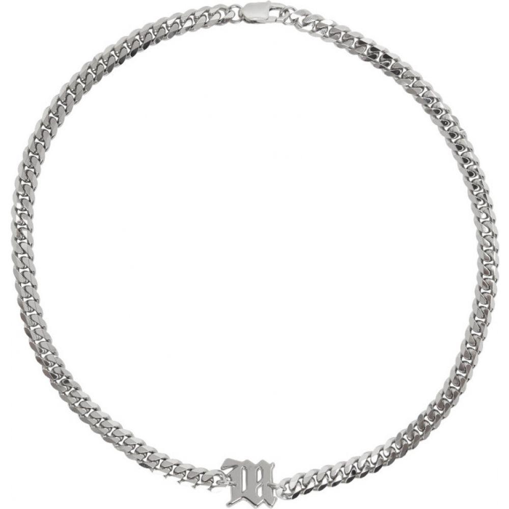 ミスビヘイブ MISBHV メンズ ネックレス ジュエリー・アクセサリー【Silver Chain 'The M' Necklace】Silver