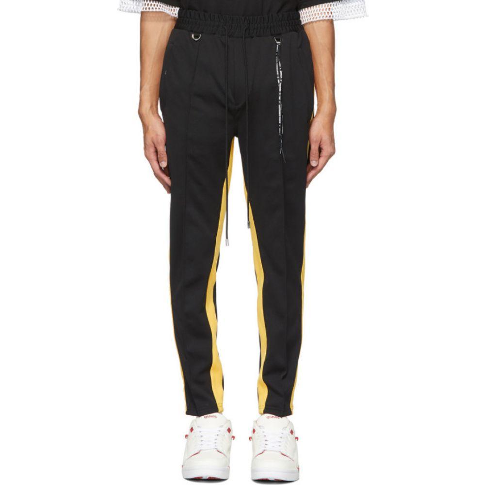 マスターマインド mastermind WORLD メンズ スウェット・ジャージ ボトムス・パンツ【Black & Yellow Tucked Track Pants】Black/Yellow
