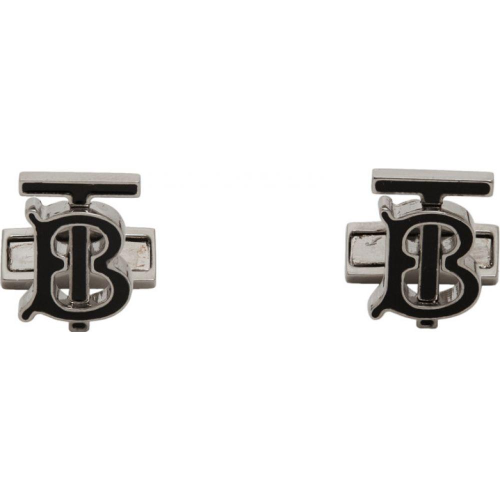 バーバリー Burberry メンズ カフス・カフリンクス 【Silver TB Cufflinks】Palladio/Black