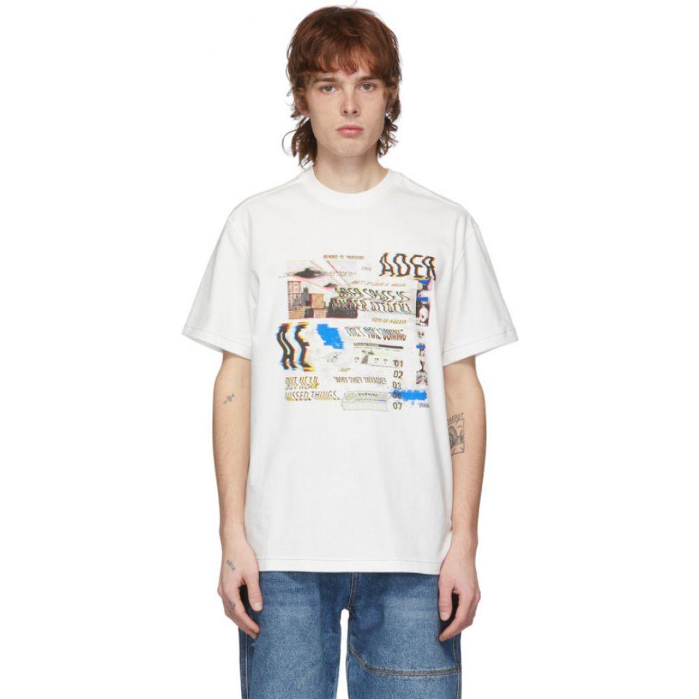 アーダーエラー ADER error メンズ Tシャツ トップス【White Noism T-Shirt】White