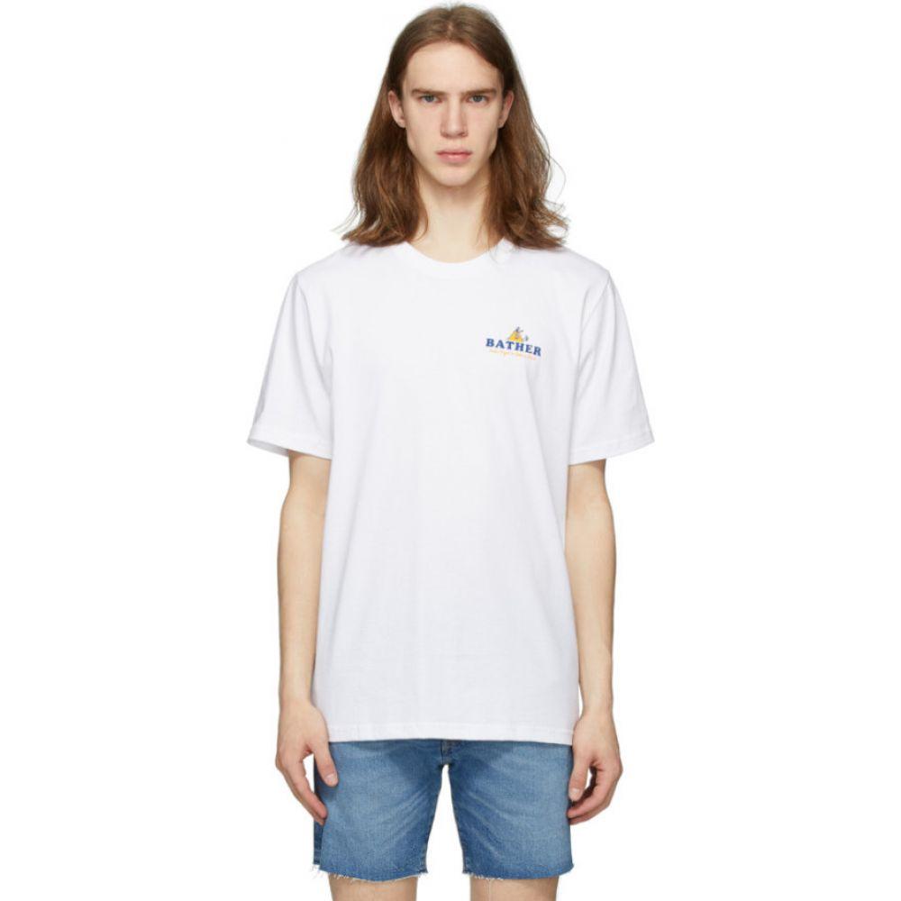 ベェイザァ Bather メンズ Tシャツ トップス【White 'Out Of Office' T-Shirt】White