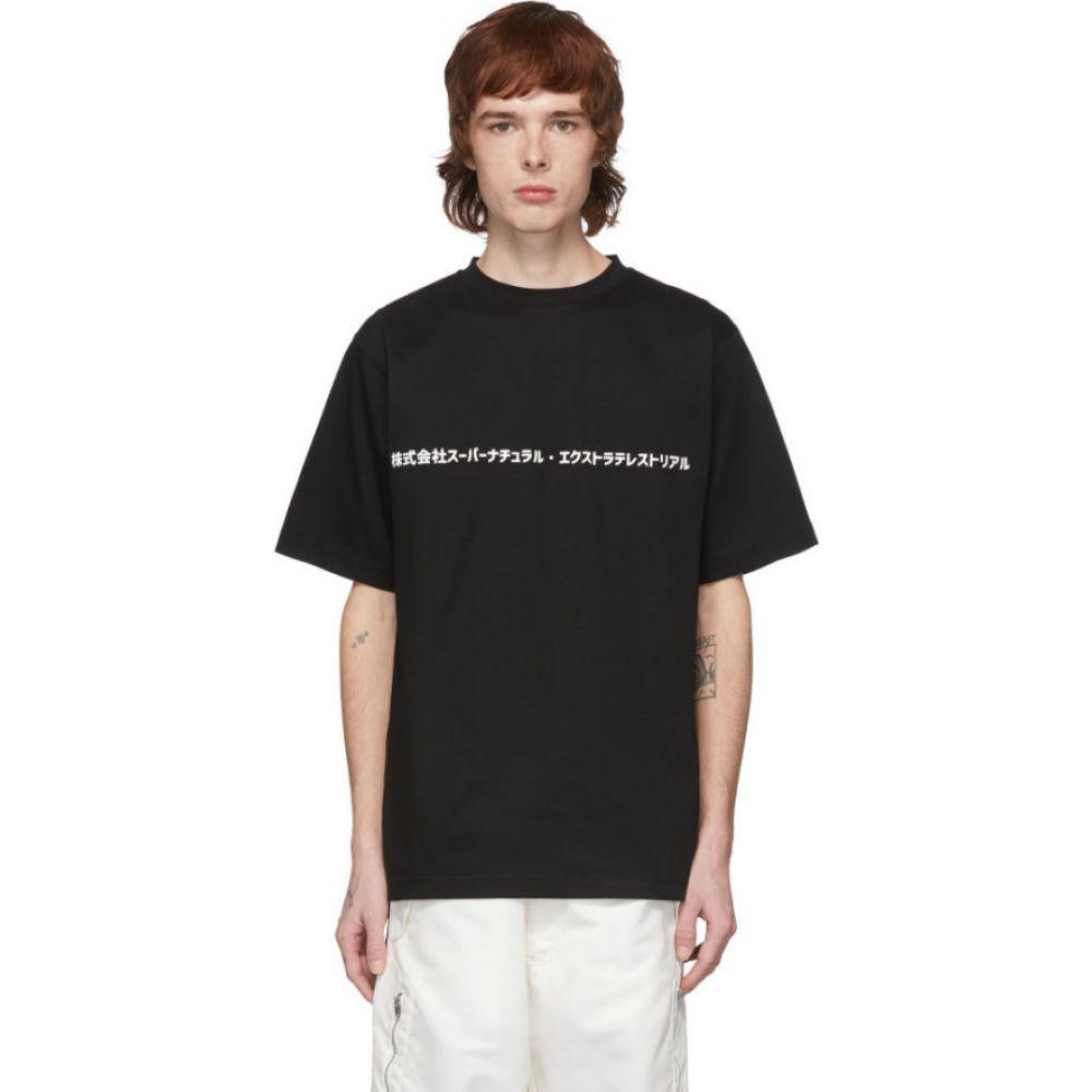 ザンダー ゾウ Xander Zhou メンズ Tシャツ トップス【Black Script T-Shirt】Black