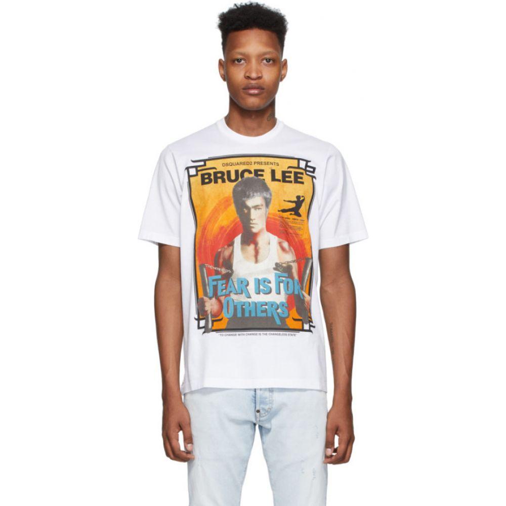 ディースクエアード Dsquared2 メンズ Tシャツ トップス【White 'Bruce Lee' Slouch Fit T-Shirt】White