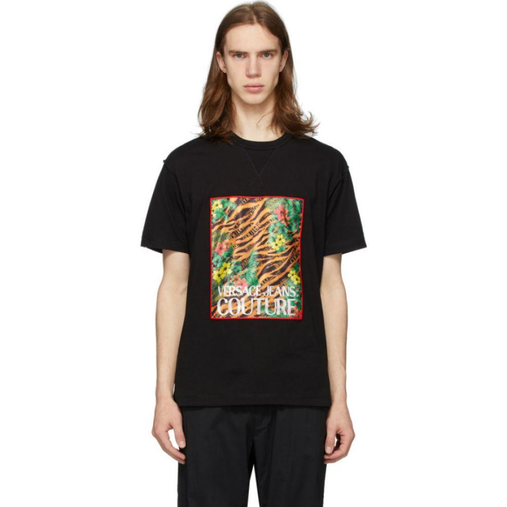 ヴェルサーチ Versace Jeans Couture メンズ Tシャツ トップス【Black Tiger & Palm T-Shirt】Black
