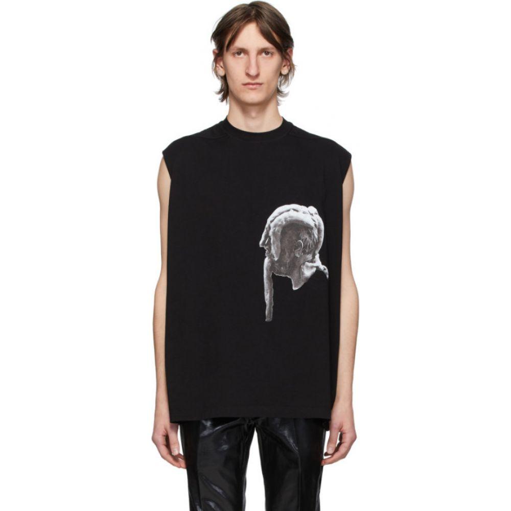 リック オウエンス Rick Owens メンズ Tシャツ トップス【Black Trap T-Shirt】Black