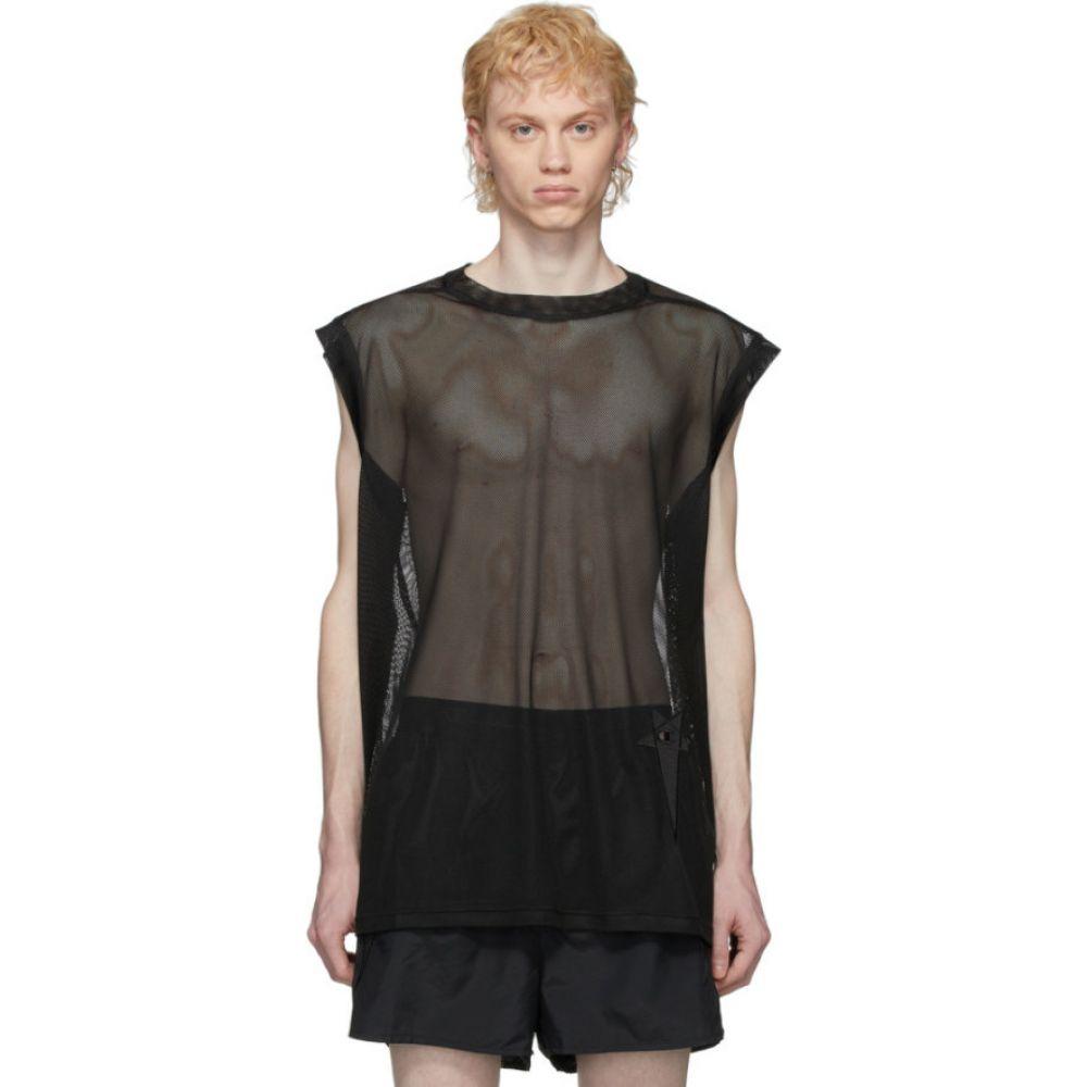リック オウエンス Rick Owens メンズ ノースリーブ トップス【Black Champion Edition Mesh Sleeveless T-Shirt】Black