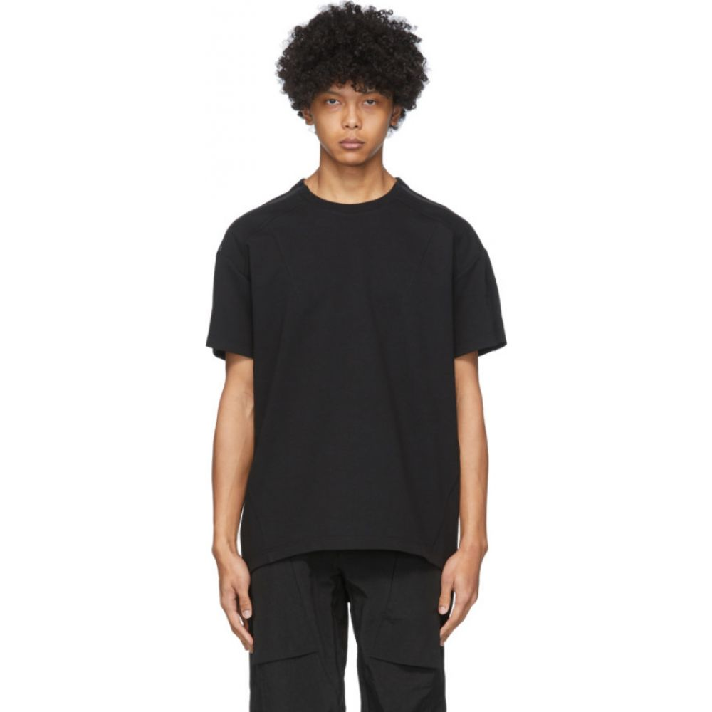 ブラック マール Blackmerle メンズ Tシャツ トップス【SSENSE Exclusive Black Zip T-Shirt】Black
