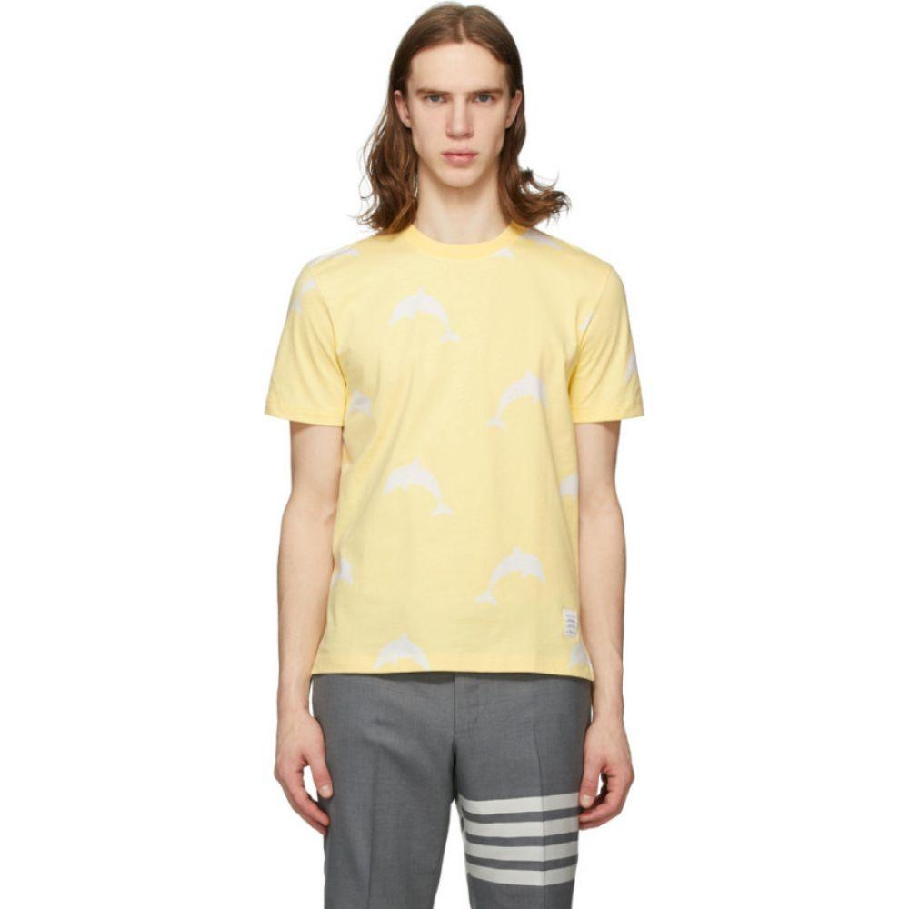 トム ブラウン Thom Browne メンズ Tシャツ トップス【Yellow All Over Dolphin Icocn T-Shirt】Yellow
