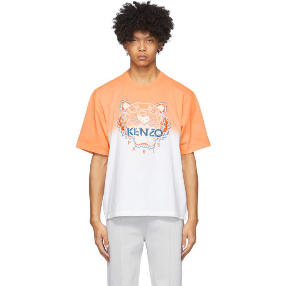 ケンゾー Kenzo メンズ Tシャツ トップス【Orange & White Tiger Gradient T-Shirt】Deep orange