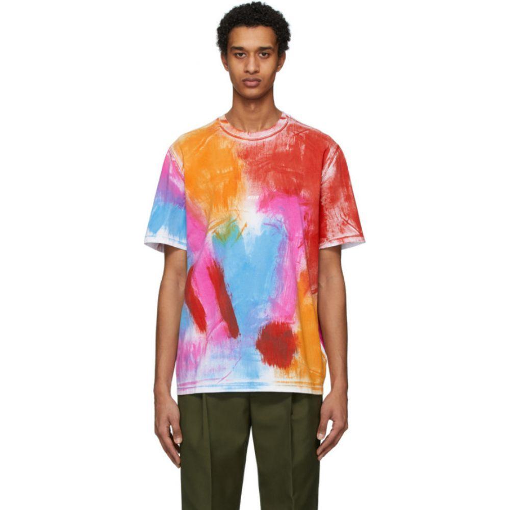 エムエスジーエム MSGM メンズ Tシャツ トップス【Multicolor Paint Pattern T-Shirt】White