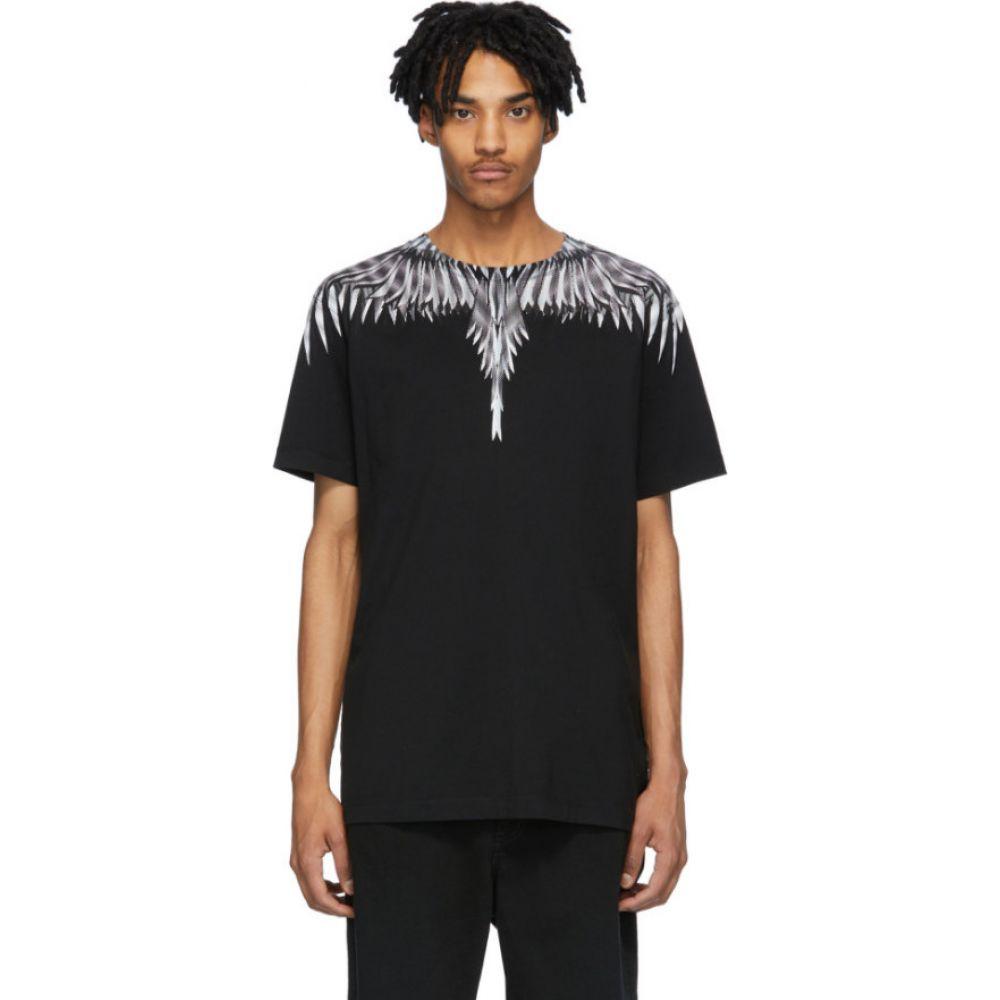 マルセロバーロン Marcelo Burlon County of Milan メンズ Tシャツ トップス【Black & White Sharp Wings T-Shirt】Black/White