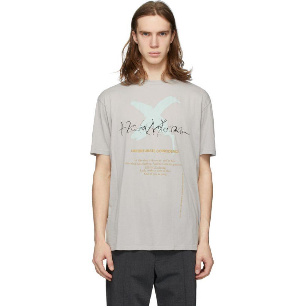 ハイダー アッカーマン Haider Ackermann メンズ Tシャツ トップス【Grey 'Unfortunate Coincidence' T-Shirt】Grey