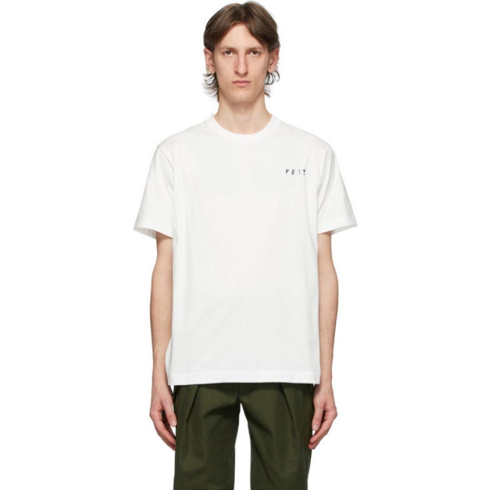 フェイト Feit メンズ Tシャツ トップス【White Logo T-Shirt】Natural