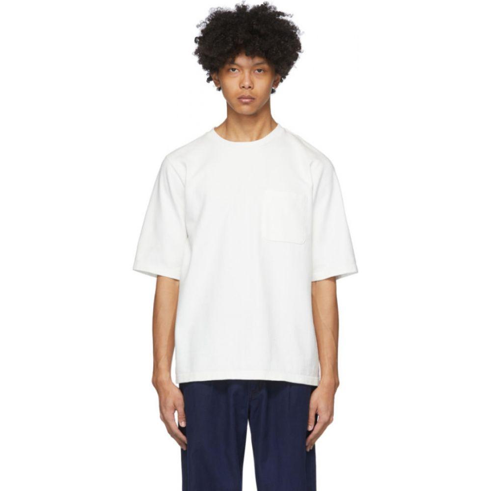 ブルーブルージャパン Blue Blue Japan メンズ Tシャツ トップス【White Firm Jersey T-Shirt】White