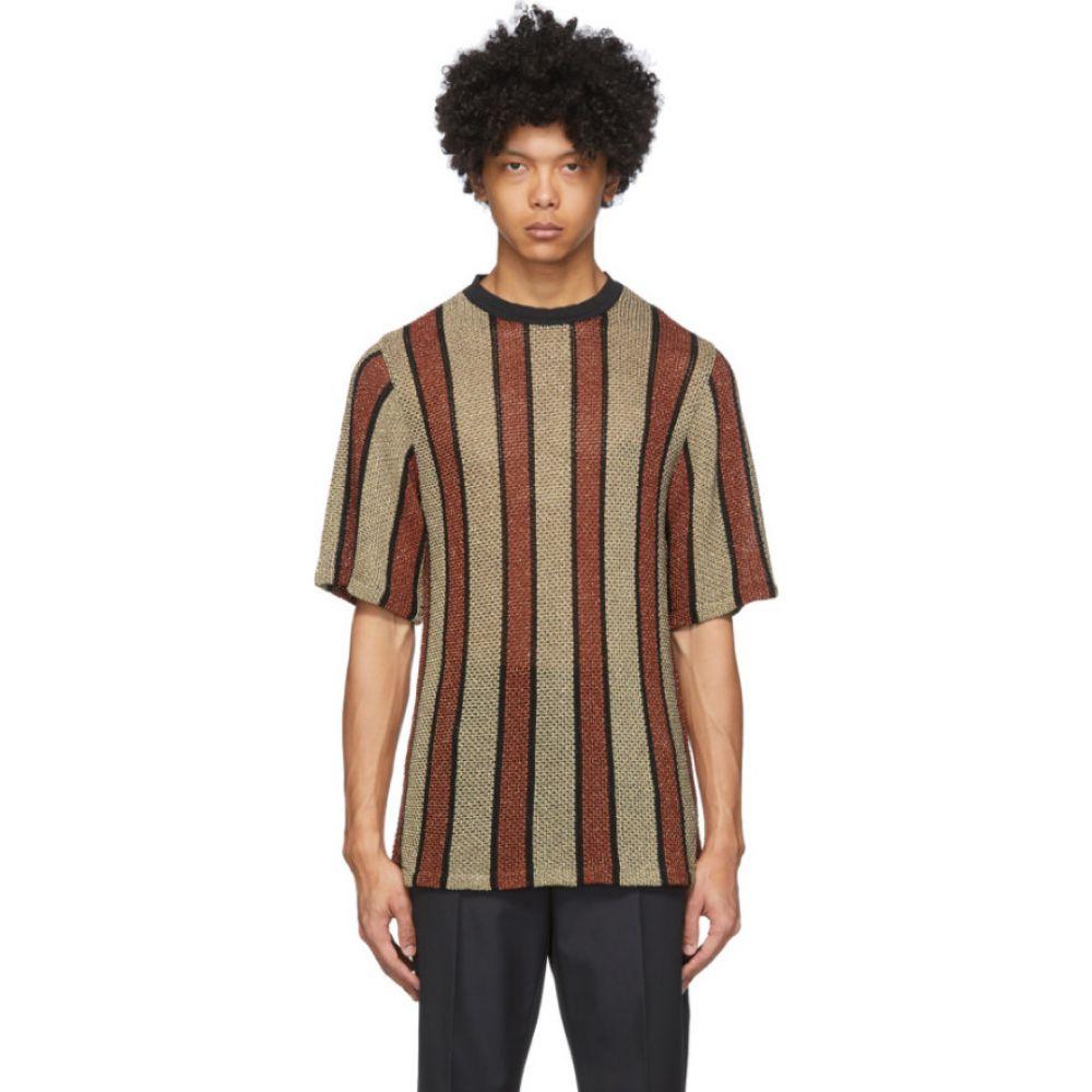 コモン スウェーデン CMMN SWDN メンズ Tシャツ トップス【Red & Gold Wesley T-Shirt】Brown gold