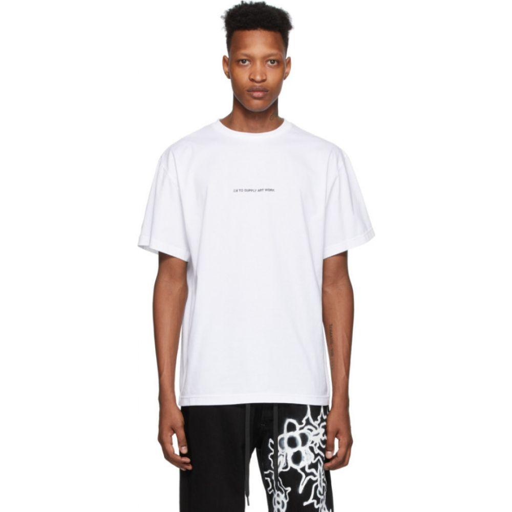 リアムホッジ Liam Hodges メンズ Tシャツ トップス【White 'Supply Artwork' T-Shirt】White