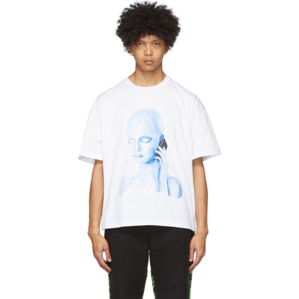 パークスアンドミニ Perks and Mini メンズ Tシャツ トップス【White Oversized Calling T-Shirt】Off-white