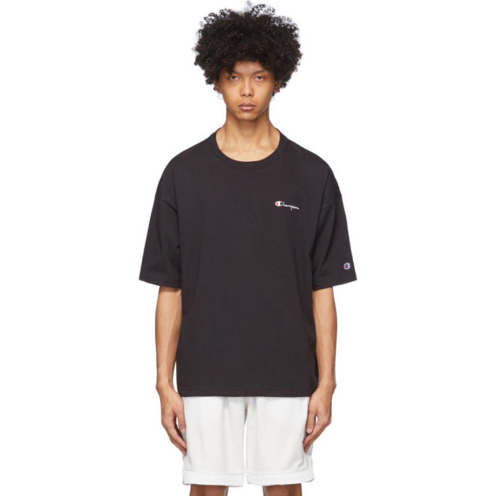 チャンピオン Champion Reverse Weave メンズ Tシャツ トップス【Black Small Script Logo T-Shirt】Black
