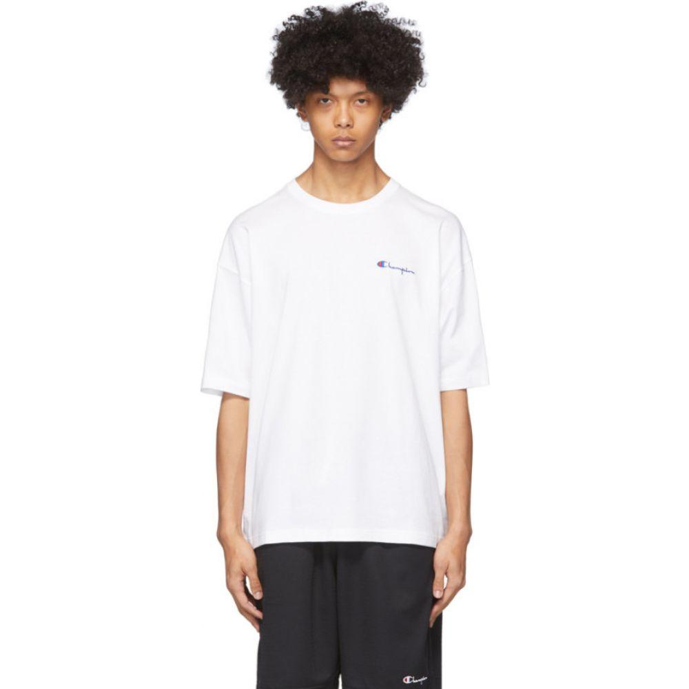 チャンピオン Champion Reverse Weave メンズ Tシャツ トップス【White Small Script Logo T-Shirt】White