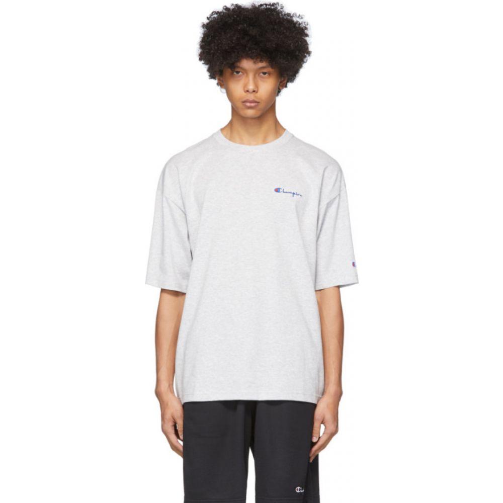 チャンピオン Champion Reverse Weave メンズ Tシャツ トップス【Grey Small Script Logo T-Shirt】Grey