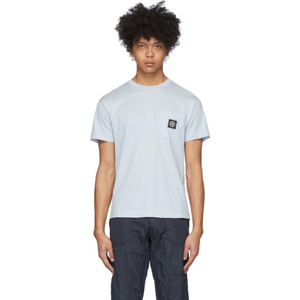 ストーンアイランド Stone Island メンズ Tシャツ ポケット トップス【Blue Pocket Logo T-Shirt】Sky blue