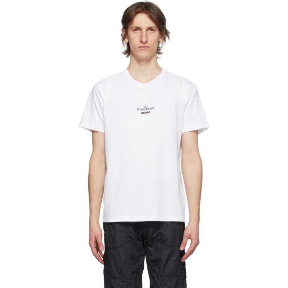 ストーンアイランド Stone Island メンズ Tシャツ トップス【White 'Archivio' Project T-Shirt】White
