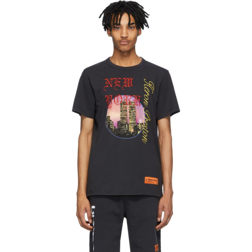 ヘロン プレストン Heron Preston メンズ Tシャツ トップス【Black NYC Skyline T-Shirt】Black
