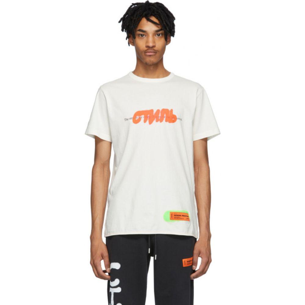 ヘロン プレストン Heron Preston メンズ Tシャツ トップス【Off-White Spray 'Style' T-Shirt】White/Multi
