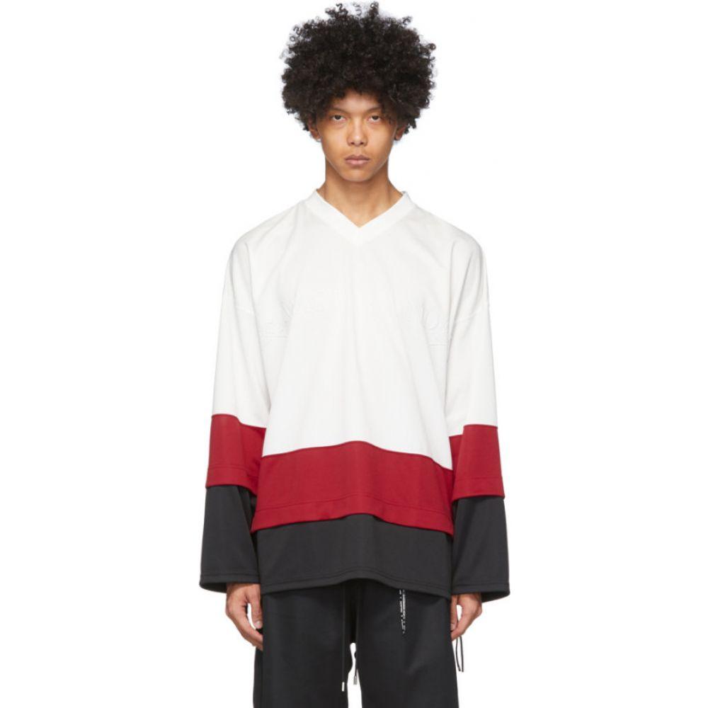 マスターマインド mastermind WORLD メンズ Tシャツ Vネック トップス【White Boxy Layered V-Neck T-Shirt】White