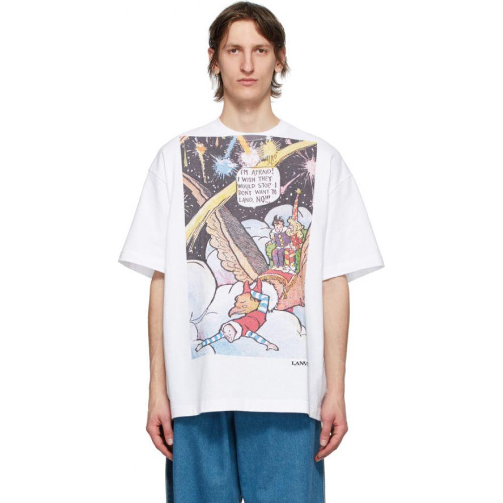 ランバン Lanvin メンズ Tシャツ トップス【White Fireworks T-Shirt】White