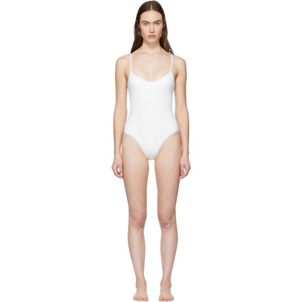 ハー ライン Her Line レディース ワンピース 水着・ビーチウェア【White Sabine One-Piece Swimsuit】