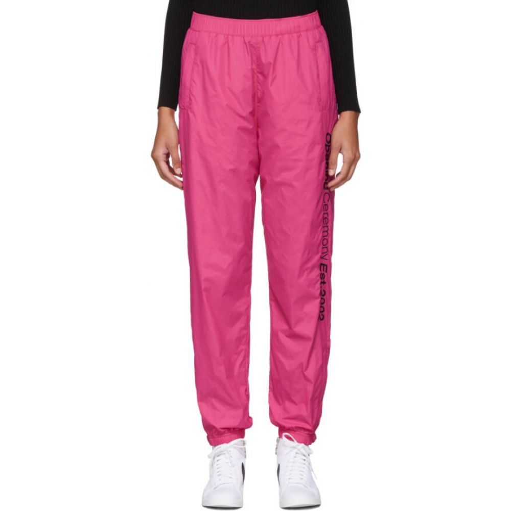 オープニングセレモニー Opening Ceremony レディース スウェット・ジャージ ボトムス・パンツ【SSENSE EXCLUSIVE Pink Nylon Track Pants】Pink