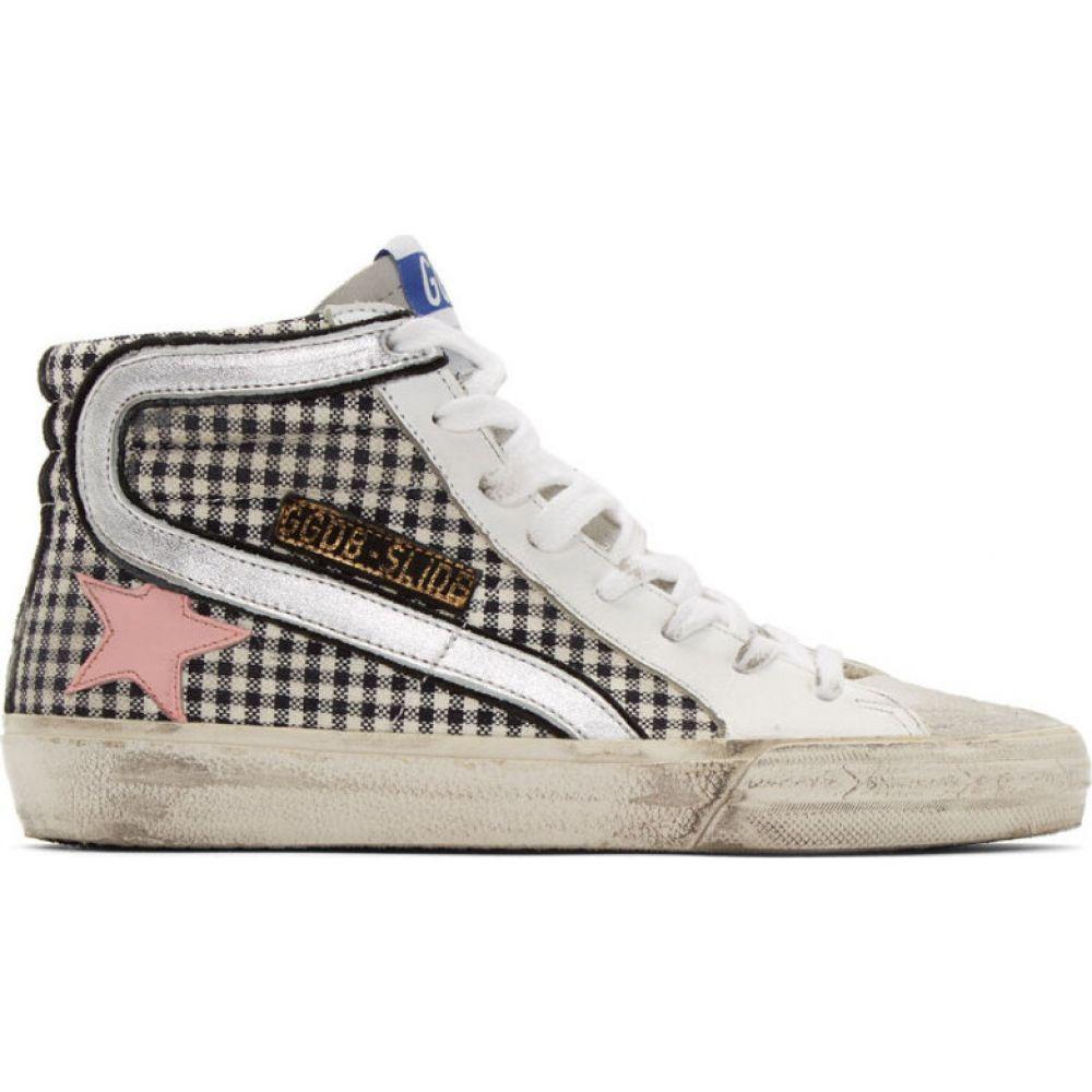 ゴールデン グース Golden Goose レディース スニーカー シューズ・靴【White Check Slide Sneakers】White leather